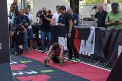哥本哈根Ironman 2016年,丹麦 免版税库存照片