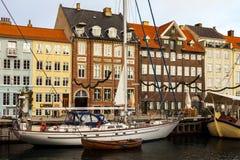哥本哈根Nyhavn地区  免版税库存图片
