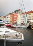 哥本哈根Nyhavn地区 图库摄影