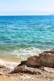 哥林斯湾爱奥尼亚海,希腊 图库摄影