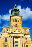 哥特人大教堂门面在瑞典 免版税库存图片