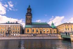 哥特人,瑞典- 2017年4月14日:哥特人德国教会  免版税库存照片