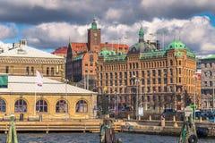 哥特人,瑞典- 2017年4月14日:哥特人,瑞典人港口  库存照片