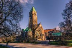 哥特人,瑞典- 2017年4月14日:脉管教会在哥特人, 库存照片