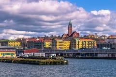 哥特人,瑞典- 2017年4月14日:dist的Masthugg教会 免版税库存图片