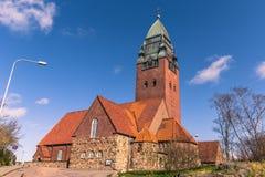 哥特人,瑞典- 2017年4月14日:Masthugg教会在Gothenbu 库存图片
