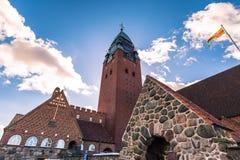 哥特人,瑞典- 2017年4月14日:Masthugg教会在Gothenbu 免版税库存照片