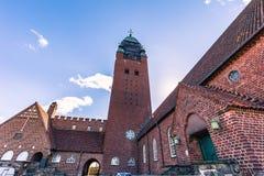 哥特人,瑞典- 2017年4月14日:Masthugg教会在Gothenbu 库存照片