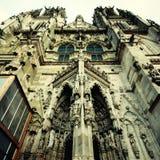 哥特式中世纪圣Peter's大教堂(雷根斯堡,德国) 免版税库存图片