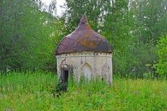哥特式亭子—一个很好Znamenskoye-Rayok庄园(18世纪)在Torzhok区 图库摄影