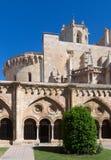 从哥特式修道院的塔拉贡纳大教堂 库存照片