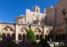 从哥特式修道院的塔拉贡纳大教堂 免版税库存照片