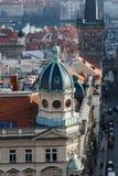 哥特式历史建筑在布拉格 免版税图库摄影