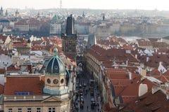 哥特式历史建筑在布拉格 图库摄影
