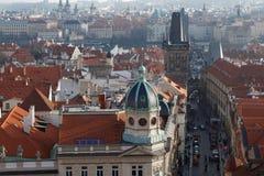 哥特式历史建筑在布拉格 免版税库存图片