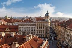 哥特式历史建筑在布拉格 库存图片