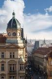 哥特式历史建筑在布拉格 免版税库存照片