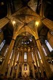 哥特式古老的大教堂 免版税库存图片