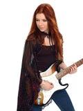 哥特式吉他弹奏者 免版税库存照片