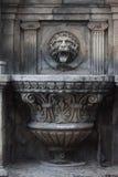 哥特式喷泉在巴库 免版税库存照片