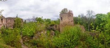 哥特式城堡农村石废墟  图库摄影