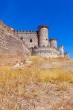 哥特式城堡在贝尔蒙特 免版税图库摄影