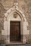 哥特式城堡门 库存照片