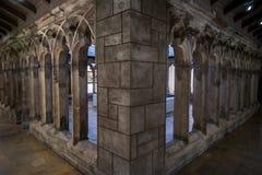 哥特式城堡建筑学 图库摄影