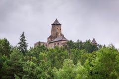 哥特式城堡Stara Lubovna 免版税库存照片