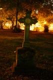 哥特式墓碑 库存照片