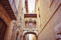哥特式处所在巴塞罗那 免版税库存照片