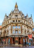 哥特式大厦在安特卫普比利时 库存图片