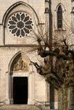哥特式大教堂入口 库存图片