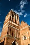 哥特式大教堂圣约翰教会在格但斯克 库存图片