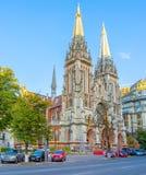 哥特式大教堂在基辅 库存照片