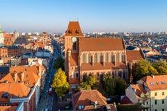 哥特式大教堂在托伦,波兰 免版税库存照片