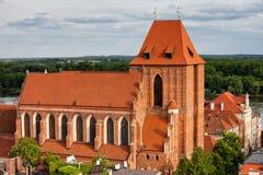 哥特式大教堂在托伦 库存照片