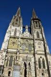 哥特式大教堂在雷根斯堡,德国 库存照片