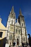 哥特式大教堂在雷根斯堡,德国 免版税库存图片