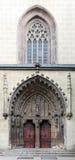 哥特式大教堂在Hronsky Benadik,斯洛伐克 库存照片