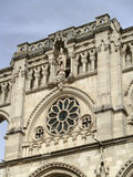 哥特式大教堂的详细资料 库存照片