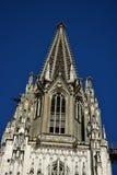 哥特式大教堂的细节在雷根斯堡,德国 免版税库存照片