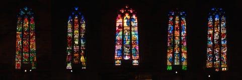 哥特式天主教大教堂内部在马略卡,西班牙 库存图片