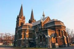 哥特式天主教大教堂 库存照片