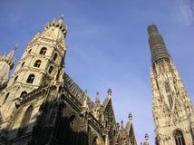 哥特式奥地利的大教堂 免版税库存照片