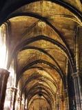 哥特式巴塞罗那的大教堂 免版税库存照片