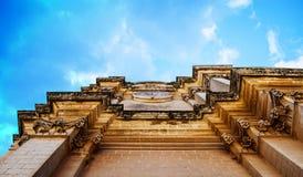 哥特式建筑在姆迪纳,马耳他 免版税库存照片