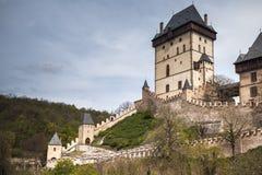 哥特式建筑 Karlstejn城堡 免版税库存图片