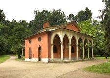 哥特式房子在Pulawy 波兰 库存照片