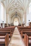 哥特式教会内部在科鲁,罗马尼亚 免版税库存图片